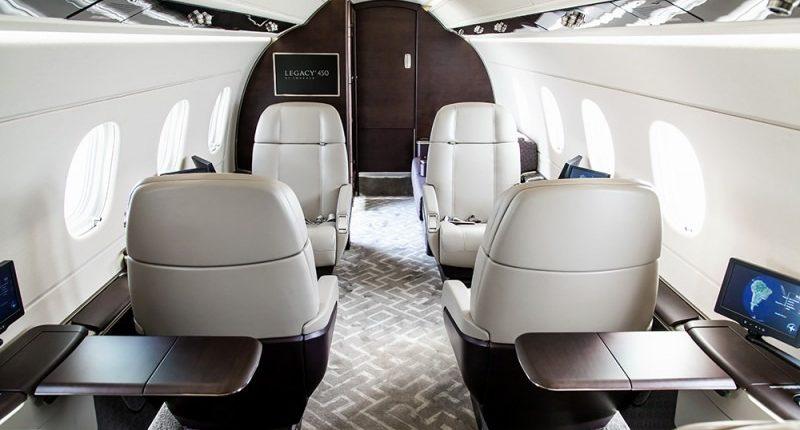 Location d'un jet privé Legacy 450