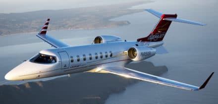 Location d'un jet privé Learjet 45