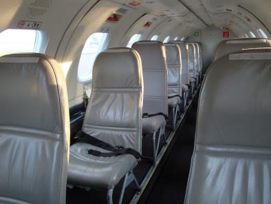 Inside plane Metro III