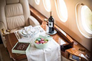 Intérieur luxueux jet privé