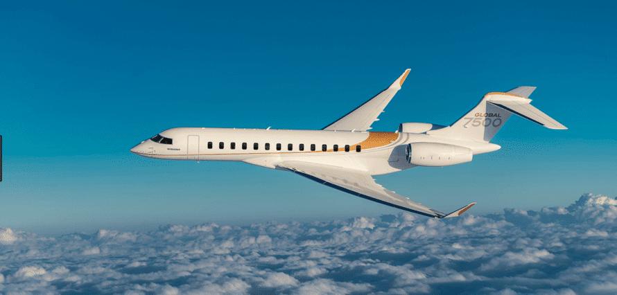 Location d'un jet privé Global 7500