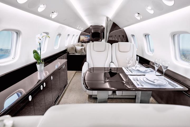 interieur d'un avion privé