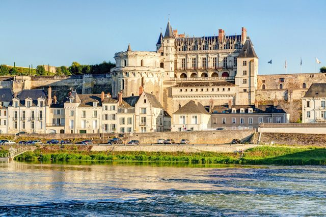 loire valley castle by helicoptere