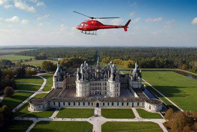 château de la loire en hélicoptère