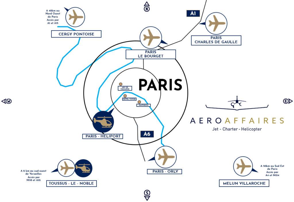 ou se trouve les différents aéroports de Paris