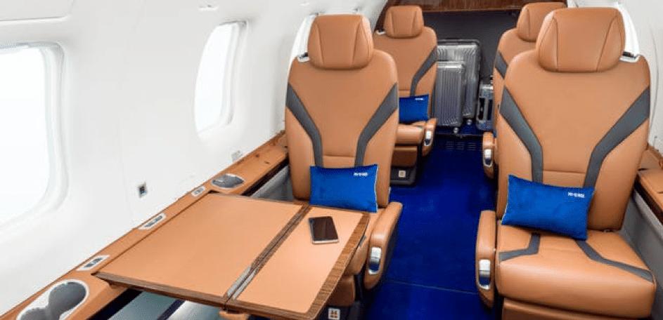Cabine du nouveau jet privé Pilatus PC12 NGX