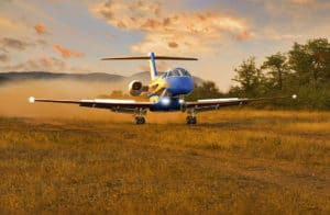Location Pilatus PC24 Atterrissage Piste en Sable
