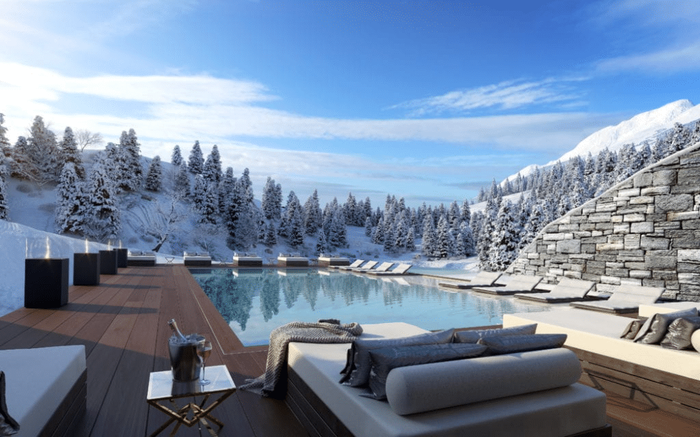 crans montana ski resort private jet