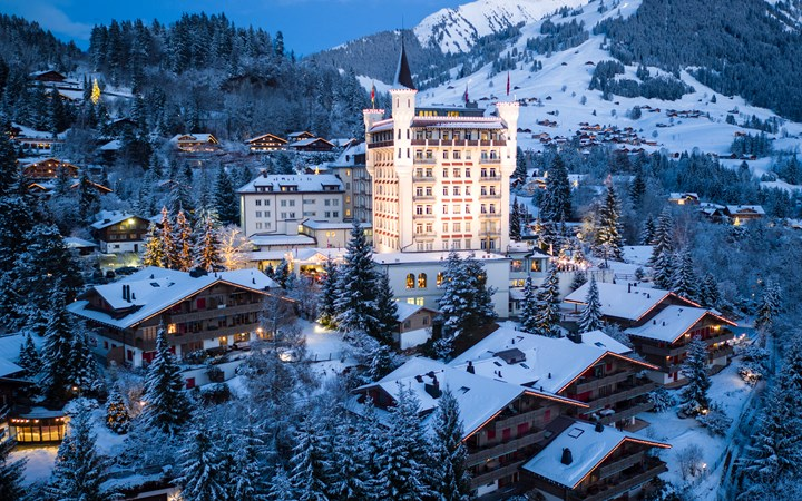 gstaad ski resort private jet