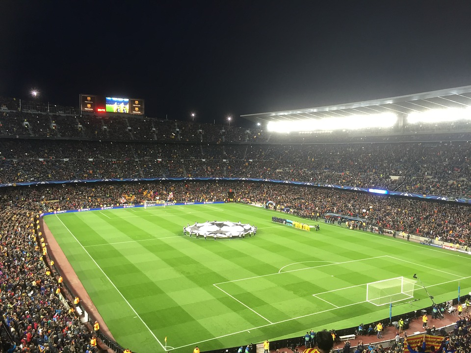 Le stade Camp Nou durant la ligue des champions