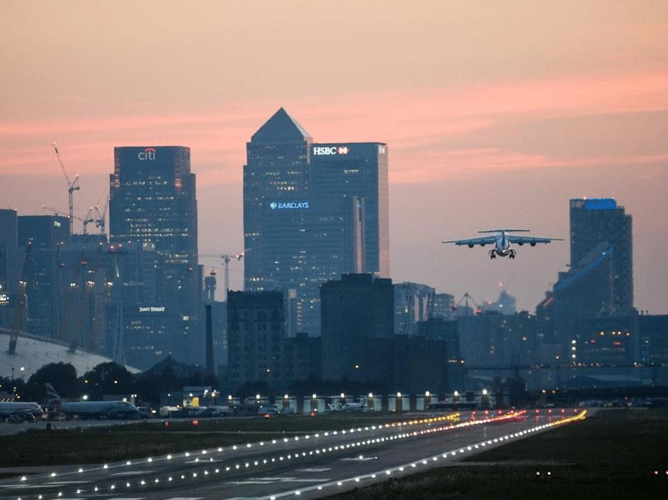 approche aéroport londres