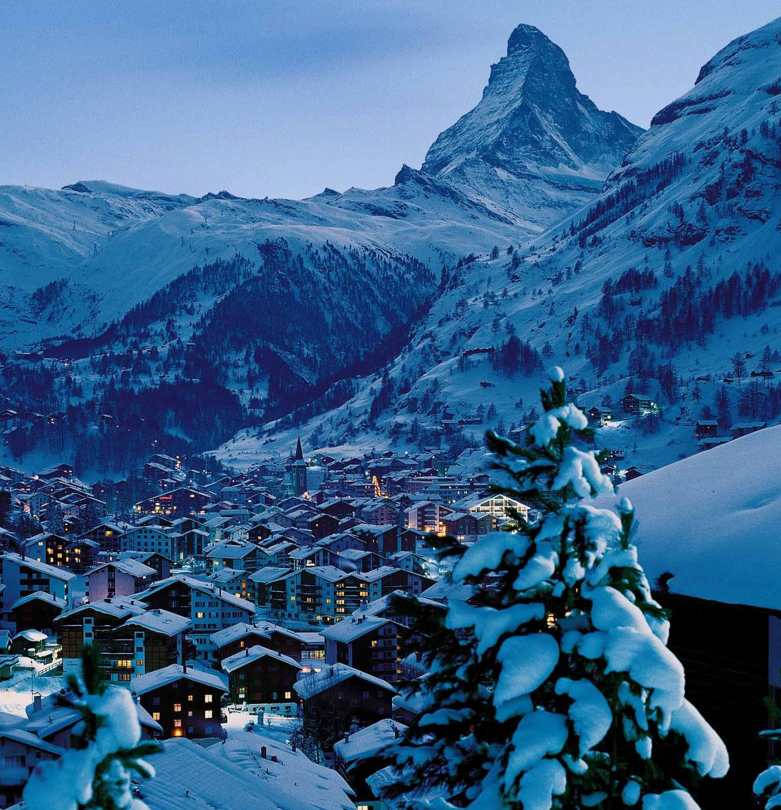 ski resort private jet zermatt