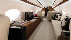 L'intérieur de luxe d'un jet privé Gulfstream G650