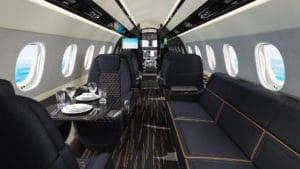L'intérieur de luxe d'un Praetor 600