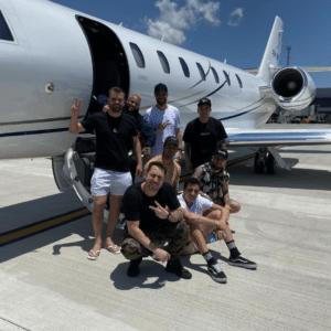 private jet Neymar
