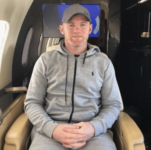 private jet Wayne Rooney