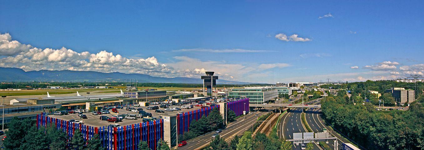 Vue panoramique aéroport de Genève